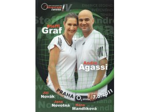 Official Program Advantage tennis,Steffi Graf, Andre Agassi, 2011