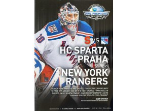 Official Program NHL Premiere Chalenge, Sparta v. New York Rangers, 2011