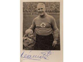Podpisová karta autogram výstřižek, koláž, František Plánička II