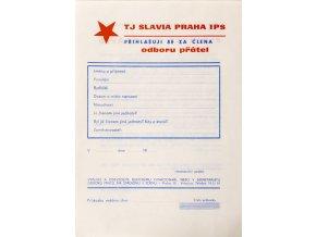 Přihláška do odboru přátel TJ Slavia Praha IPS (1)