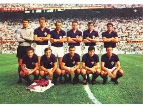 Pohlednice fotbal tým, Fiorentina,, 8788