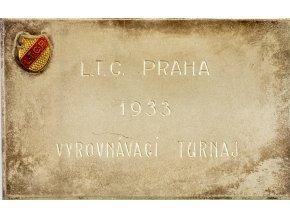 Plaketa tenis, III.cena Čtyřhra, LTC Praha, 1933 (1)