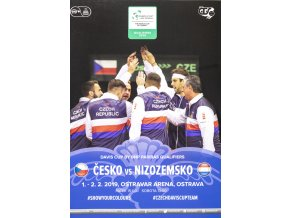 Official Program Davis Cup, CZ v. Nizozemsko, 2019