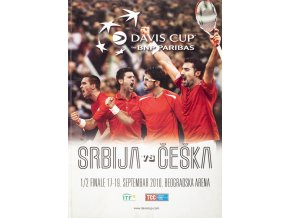 Official Program Davis Cup, Srbija v. Češka, 2010 1