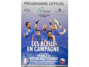 Program, Davis Cup , France v. Rébublique Tchéque, 2014