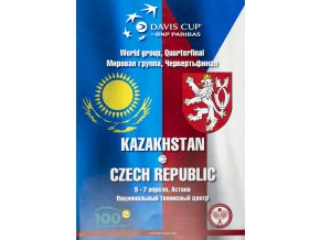 Program, Davis Cup , Kazachstan v. Czech Republic, 2014