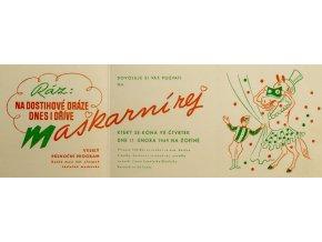 Pozvánka na maškarní rej, sdružení majitelů koní, 1949 (1)