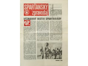 Sparťanský zpravodaj Květen 1985 (1)