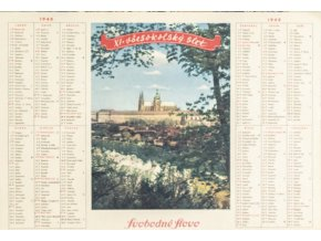 Kalendář XI. Všesokolský slet, Svobodné Slovo, 1948