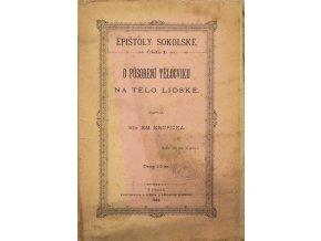 Časopis,Epištoly sokolské, O působení tělocviku na tělo lidské, 1882