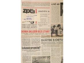 Zpravodaj TJ Slavia Praha, Květen 1987