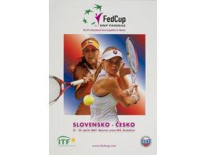 Program, Fed Cup , Slovensko v. Česká republika, 2007