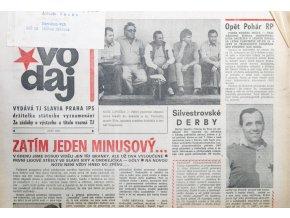 Zpravodaj TJ Slavia Praha, Září 1987