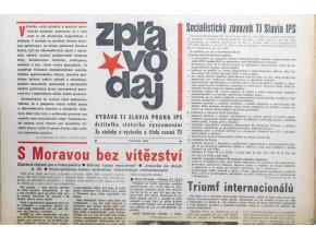 Zpravodaj TJ Slavia Praha, Červen 1986