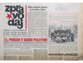 Zpravodaj TJ Slavia Praha, Srpen 1982