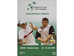 Official Program Davis Cup, CZ v. Německo, 2005