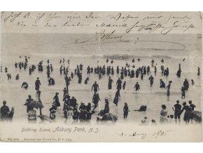 Dobová pohlednice, Bathing scene, Asbury Park, NJ, 1905 (2)