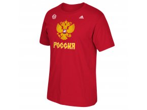 Team Russia 2016 World Cup of Hockey Primary Logo T-Shirt - Mens