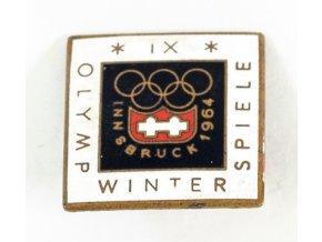 Odznak smalt,IX. OH , Innsbruck, 1964 (1)