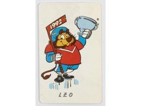 Sběratelská telefonní karta, MS hokej 1992 (1)