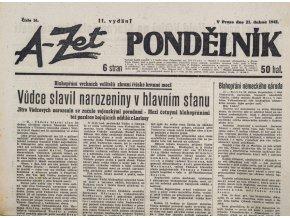 Noviny, A Zet Pondělník, č. 16, 1941 (II. vydání) (1)