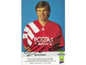 Pohlednice s autogramem Portas, Bernd Forster (1)