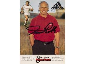 Pohlednice s autogramem Adidas, Franz Roth (1)