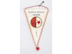 Vlajka klubová 18 SLAVIA PRAHA Kopaná 1893 (1)