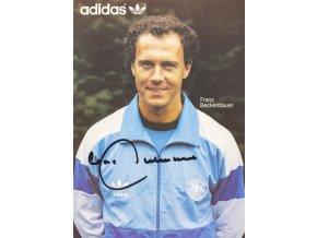 Pohlednice s autogramem Adidas, Franz Beckenbauer (2)