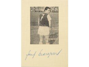 Podpisová karta, Josef Masopust, autogram