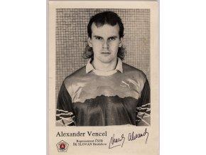 Podpisová karta, Alexander Vencel, autogram (1)