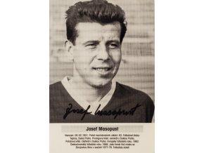 Foto kartička , Josef Masopust, autogram
