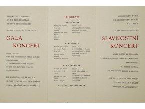 Pozvánka na slavnostní koncert ME Atletika, Praha, 1978