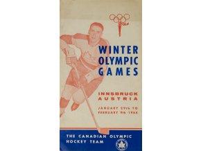 Program, The Canadien Olympic hockey team, OH Innsbruck, 1964 (1)