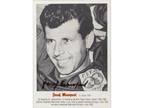 Kartička , Josef Masopust, FIFA, 1963, autogram