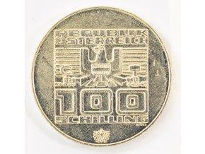 Stříbrný 100 schilling 1976, OH Innsbrusck (1)