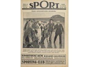 Časopis SPORT, č. 30, 1925 (1)
