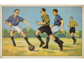 Pohlednice humor fotbal souboj hráčů (1)