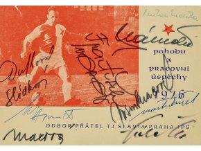 PF 76 Odbor přátel TJ Slavia Praha IPS, autogramy