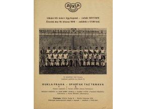 Program Dukla Praha v. Spartak TAZ Trnava, 1978