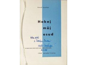 Kniha Josef Laufer, Hokej můj osud, věnování autora (2)