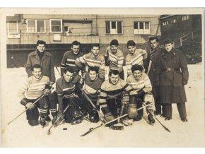 Fotografie hokej, před šatnami
