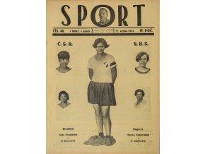 Časopis SPORT, č. 46, 1924 (1)