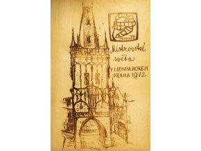 Dřevěná pohlednice MS hokej, Prah 197 (1)