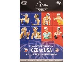 Program, Fed Cup Final,. Czech Republic v USA, 2018