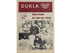 Program Dukla Praha v.DAC Dunajská streda, 1987