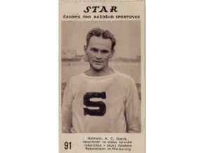 Kartička z časopisu STAR 91, Hofmann, A.C. Sparta