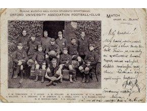 Dopiska Oxford University v Sport kl. Slavia, 1899 2