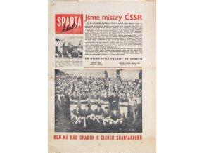 Noviny Sparta klub, Jsme mistry ČSSR, 1967