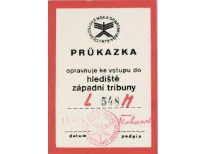 Průkazka Československá spartakiáda 1975